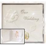 Кутия за сватбен диск с рамка за снимка- Сватбени халки