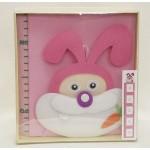 Луксозен детски метър за стена и албум за снимки- Зайче
