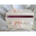 Кутия за подарък или за пари в цвят праскова