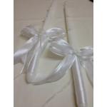 Сватбени свещи за църква бели с бели пеперуди