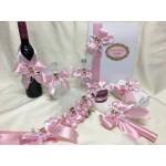 Комплект за Кръщене меченце в розово