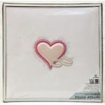 Сватбен албум за снимки  Сърце с халки- лукс