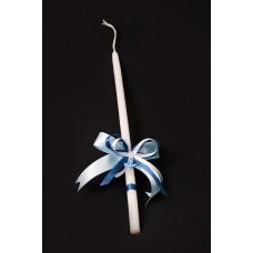 """Свещ за кръщене-малка  """"Синя Котва"""""""