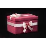 """Кутия за подарък или за пари """"Бордо"""" малка"""